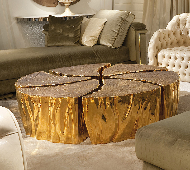 Gold Tree Trunk Table Shapeyourminds Com